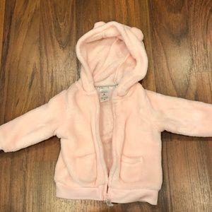 Pink zip up jacket - 6m